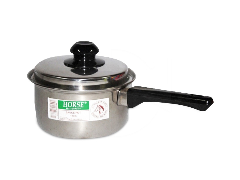 4218,4220,4222HO S/Steel Sauce Pot (18.0) 长柄钢锅 (青马)