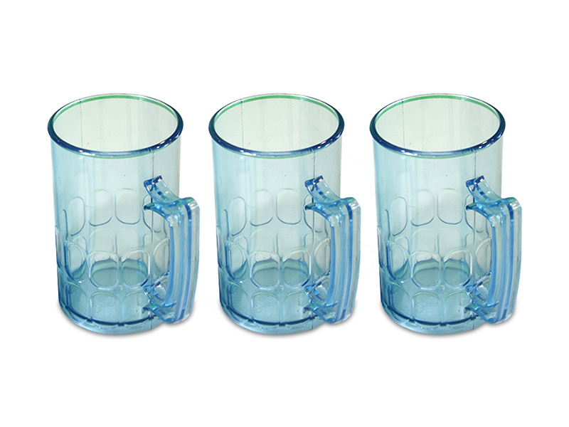 MO-1014PP-B<br>14oz Plastic Honey Cup (Pp)-Blue<br> 十四盎司蒙胶耳杯