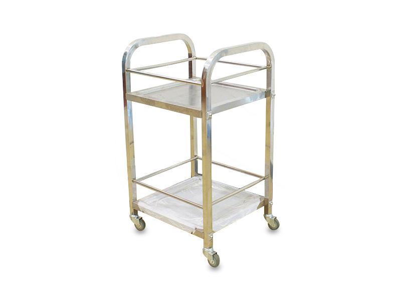 (Medium)S/S Two Tier Util.Cart <br>(大号)二层钢收碗车
