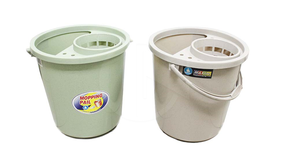 4GAL MOPPING PAIL W/COVER(18L)<br> 四牙盖桶-马点色
