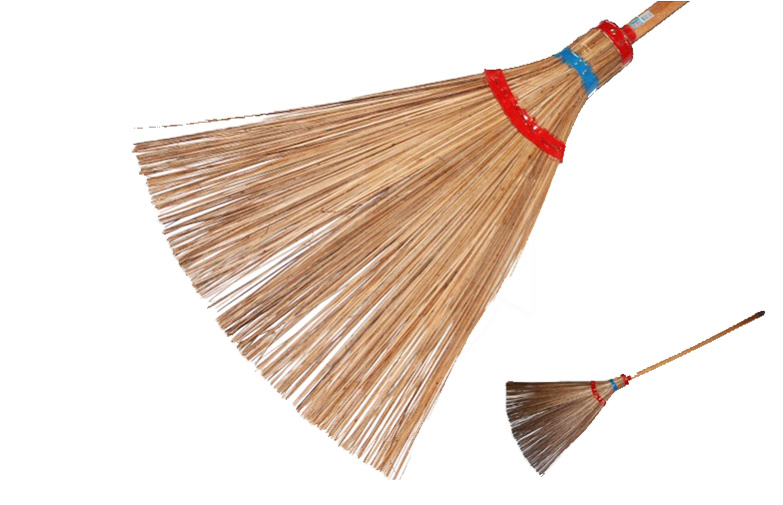 "PG888<br>5"" Wooden Handle Lili Broom<br>木柄椰骨扫"