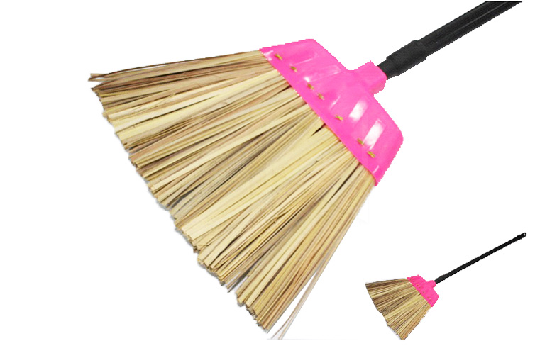 PG881 Plastic Top Bamboo Broom Head 本地胶头葵扫头