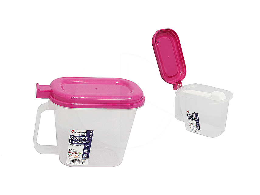 E1903<br>Condiment Spices Container With Spoon<br>调料盒陪勺子